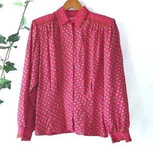 Vintage Liz Claiborne rayon button down blouse